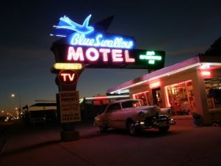 MEANWHILE, SOMEWHERE ON ROUTE 66 …